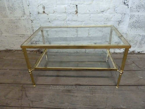 Antiques Atlas – Vintage Brass Coffee Table With Glass Shelves With Regard To Antique Brass Coffee Tables (View 4 of 40)