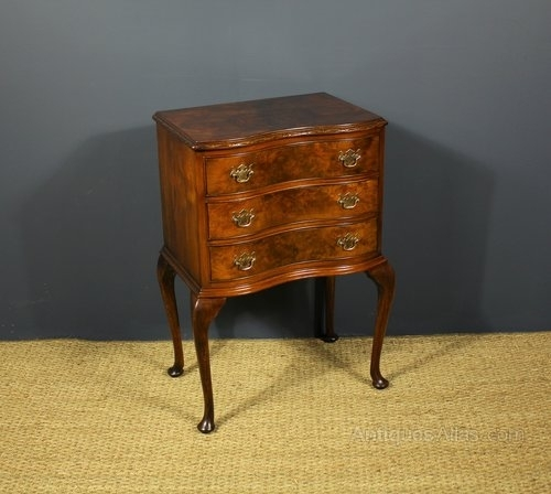 Antiques Atlas – Walnut Serpentine Bedside Chestcameo Furniture Within Cameo Cocktail Tables (View 30 of 34)