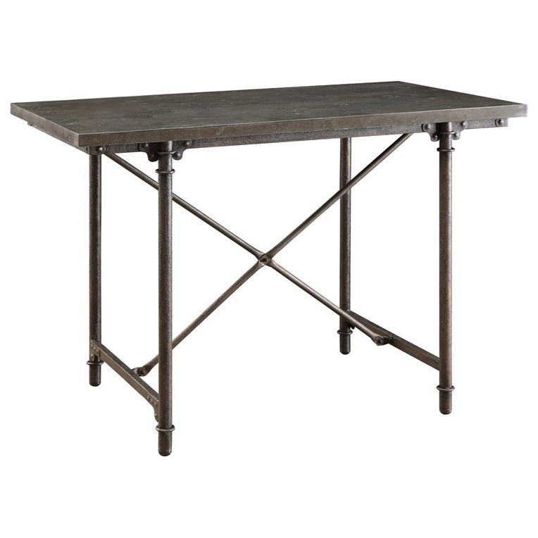 Antonelli Bluestone Counter Height Table With Metal Legs | Quality For Bluestone Rustic Black Coffee Tables (View 22 of 40)