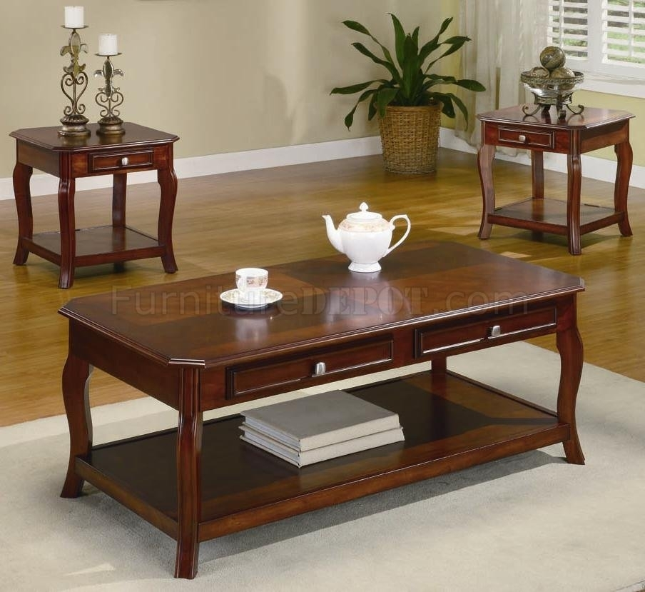 Appealing Round Cherry Coffee Table With Living Room The Most Pertaining To Traditional Coffee Tables (View 20 of 40)