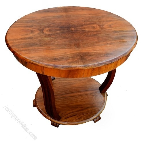 Art Deco Coffee Table In Figured Walnut – Antiques Atlas Pertaining To Antiqued Art Deco Coffee Tables (Image 11 of 40)