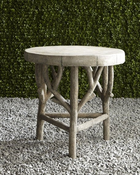 Artemis Faux Bois Side Table For Faux Bois Coffee Tables (View 1 of 40)