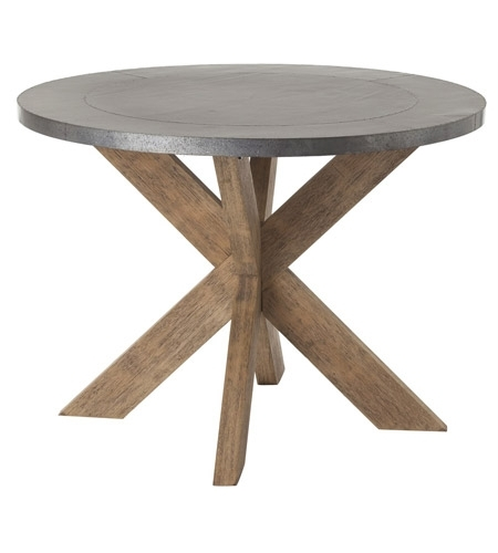 Arteriors 6417 Halton 42 Inch Galvanized And Natural Wax Entry Table In Waxed Metal Coffee Tables (Image 3 of 40)