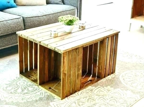 Astounding Coffee Table Made From Crates Bluestone Crate And Barrel With Regard To Bluestone Rustic Black Coffee Tables (View 31 of 40)