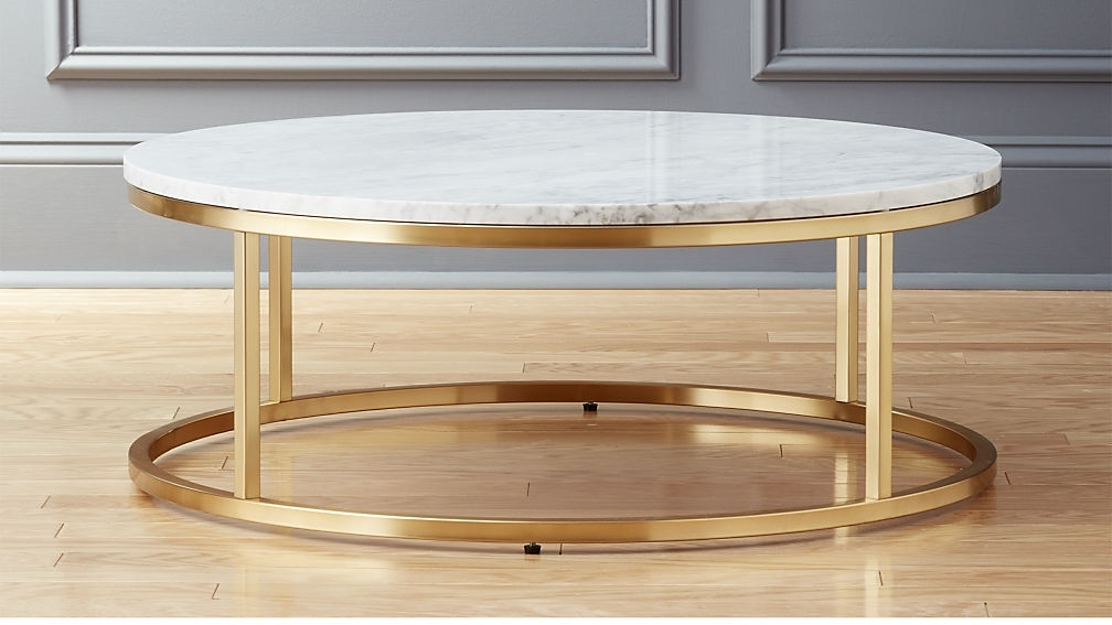 Astounding Furniture Coffee Tables At Smart Round Marble Brass Table With Regard To Smart Round Marble Top Coffee Tables (Image 3 of 40)