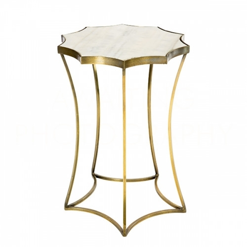 Astre Antique Brass Side Table Pertaining To Antique Brass Coffee Tables (Image 6 of 40)