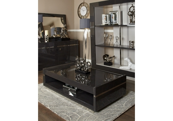 Aurelia Dark Grey Walnut Coffee Table Pertaining To Walnut Finish 6 Drawer Coffee Tables (Image 7 of 40)