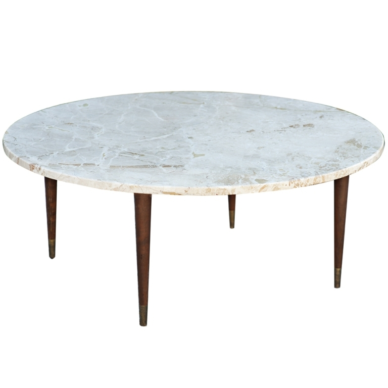 Awesome Round Stone Coffee Table With Coffee Table Smart Round Inside Smart Round Marble Top Coffee Tables (Image 5 of 40)