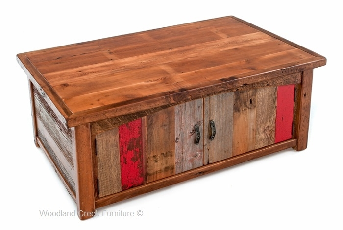 Barn Wood Coffee Table, Vintage Wood Coffee Table, Painted Regarding Vintage Wood Coffee Tables (Image 3 of 40)