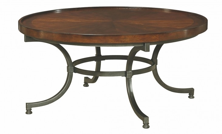 Barrow Rich Amber Round Cocktail Table From Hammary (358 911 In Blanton Round Cocktail Tables (View 21 of 40)