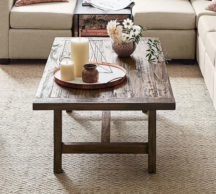 Bartol Reclaimed Pine Coffee Table – Living Room Decorating Ideas With Regard To Moraga Barrel Coffee Tables (Image 6 of 40)