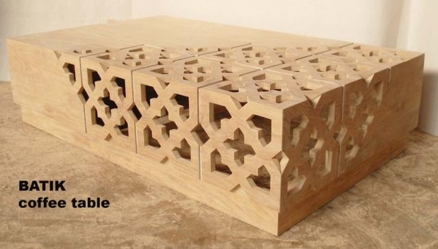 Batik Coffee Table – Baliette Home Furnishings – Bali Teak Furniture In Batik Coffee Tables (View 12 of 40)