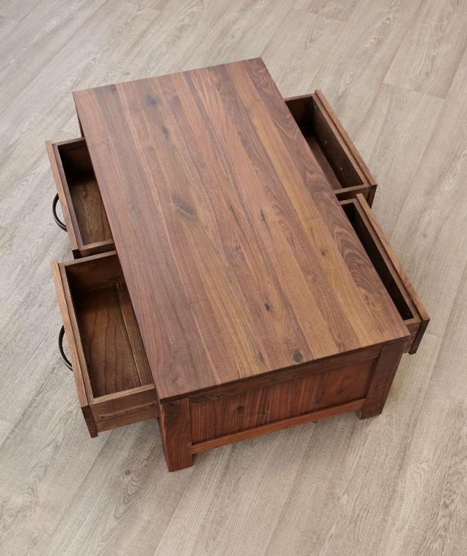 Baumhaus Mayan Walnut 4 Drawer Storage Coffee Table | Baumhaus Mayan For Walnut 4 Drawer Coffee Tables (View 12 of 40)