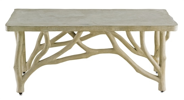 Bayou Faux Bois Concrete Branch Coffee Table – Mecox Gardens Throughout Faux Bois Coffee Tables (View 9 of 40)