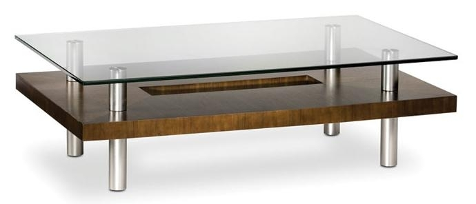 Bdi Hokkaido Wood And Glass Coffee Table With Metal Legs | Belfort Intended For Potomac Adjustable Coffee Tables (Image 12 of 40)