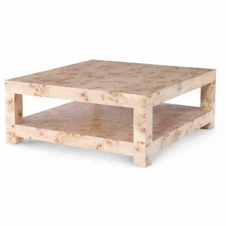 Beautiful Burl Wood Side Table Louisa Square Burl Wood Coffee Table With Regard To Oslo Burl Wood Veneer Coffee Tables (Image 5 of 40)