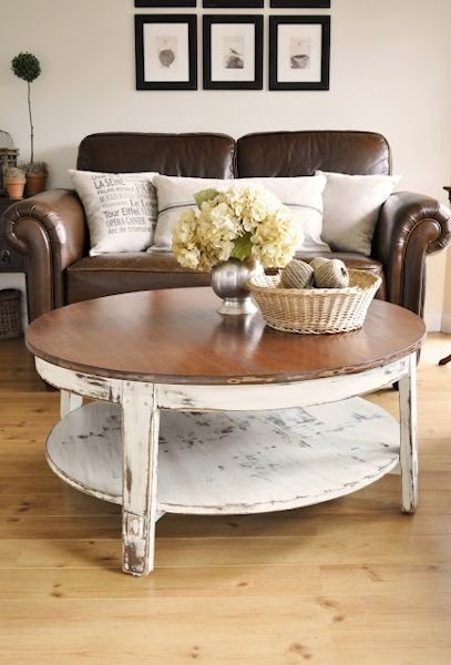 Before & After: Eight Amazing Coffee Table Makeovers With Regard To 2 Tone Grey And White Marble Coffee Tables (View 32 of 40)