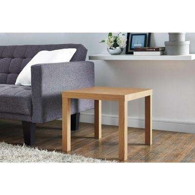 Beige – Accent Tables – Living Room Furniture – The Home Depot Pertaining To Pine Metal Tube Coffee Tables (Image 4 of 40)