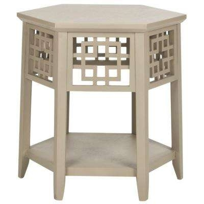 Beige – Accent Tables – Living Room Furniture – The Home Depot Regarding Pine Metal Tube Coffee Tables (Image 5 of 40)