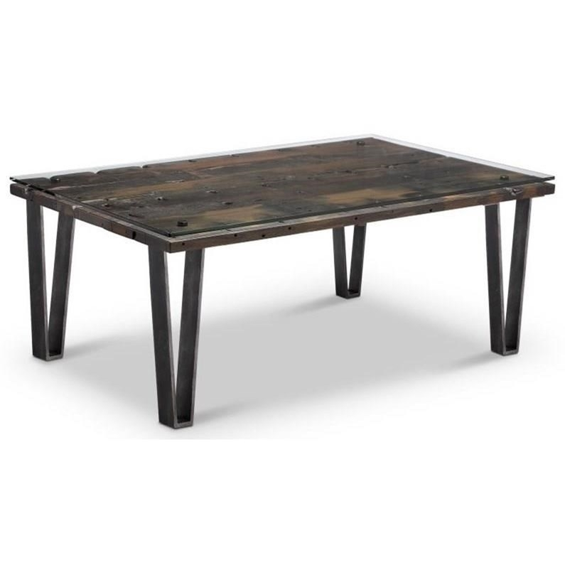 Belfort Select Vector Modern Reclaimed Cocktail Table | Belfort Pertaining To Potomac Adjustable Coffee Tables (View 8 of 40)