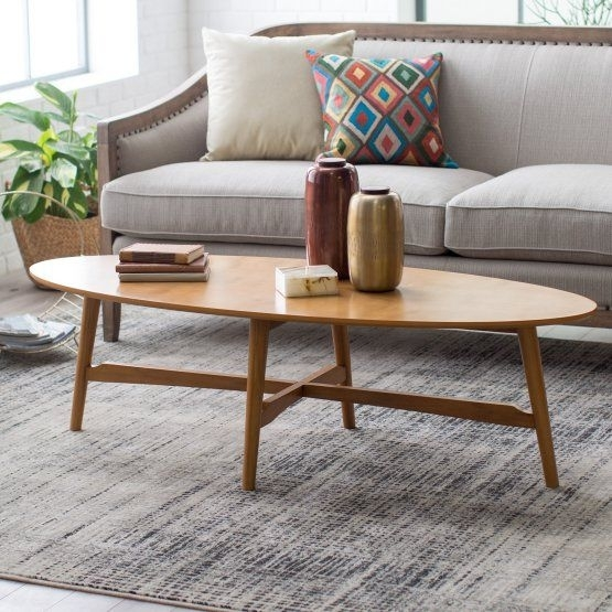Belham Living Darby Mid Century Modern Coffee Table – Pecan Finish With Naveen Coffee Tables (Image 2 of 40)