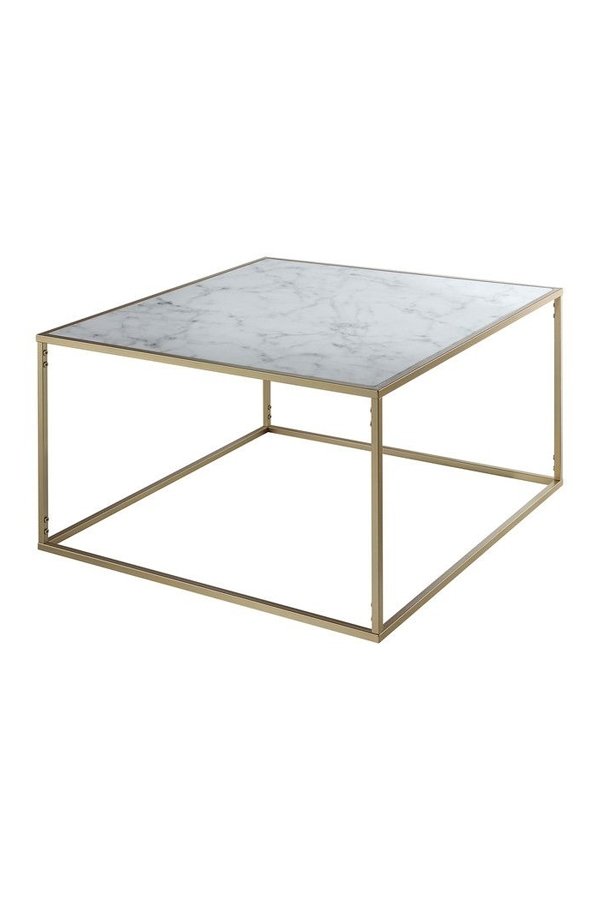 Belle Square Marble Coffee Table Gold Base – Lexiang For Marble Coffee Tables (Image 5 of 40)