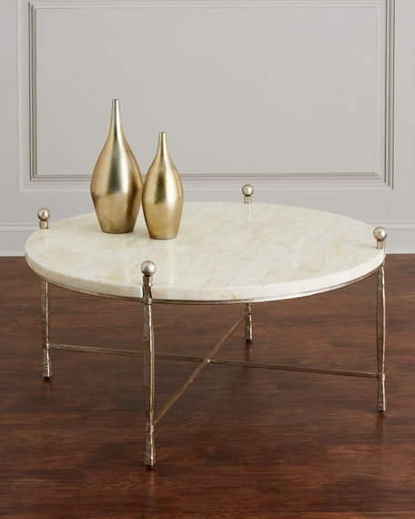Bernhardt Clarion Stone Top Coffee Table Pertaining To Stone Top Coffee Tables (Image 3 of 40)
