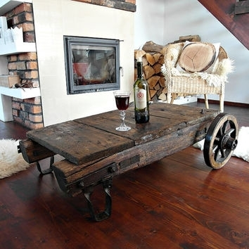 Best Antique Coffee Table Products On Wanelo Intended For Reclaimed Elm Cast Iron Coffee Tables (View 23 of 40)