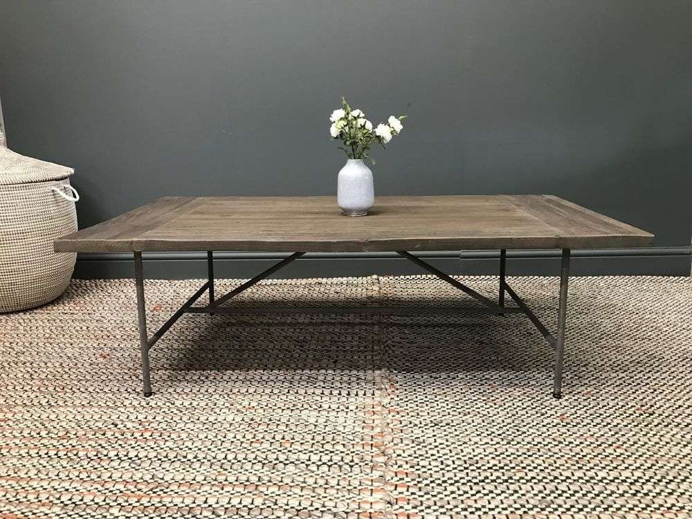 Best Elm Furniture Of Chopper Reclaimed Elm And Steel Coffee Table Pertaining To Reclaimed Elm Iron Coffee Tables (View 39 of 40)