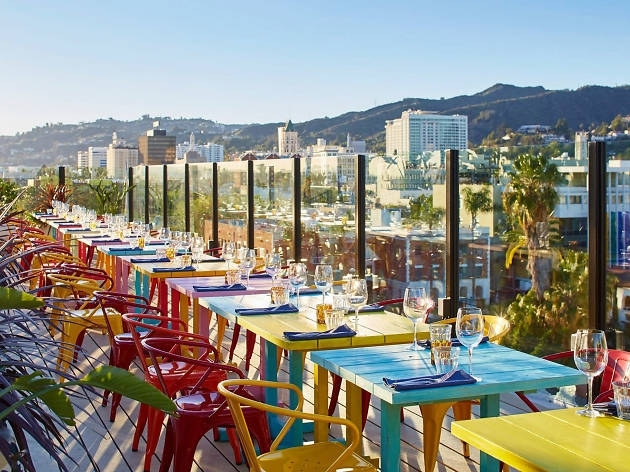 Best Rooftop Bars In Los Angeles For Sweeping Views Throughout Shelter Cocktail Tables (Image 5 of 40)