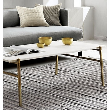 Best Slab Coffee Table Products On Wanelo Inside Slab Large Marble Coffee Tables With Brass Base (Image 1 of 40)