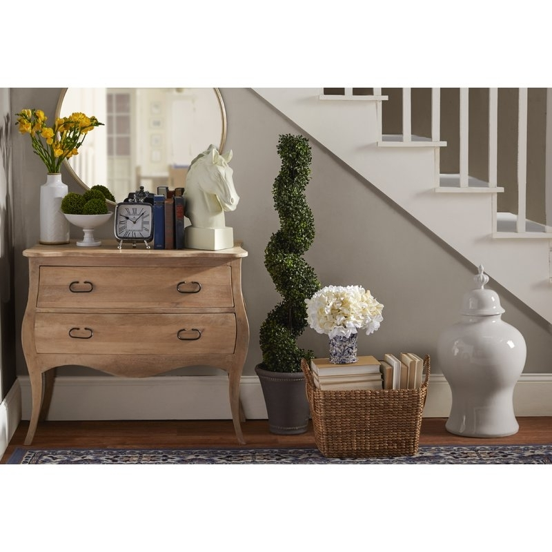 Birch Lane™ Leena 2 Drawer Accent Chest & Reviews | Birch Lane For Natural 2 Drawer Shutter Coffee Tables (View 40 of 40)