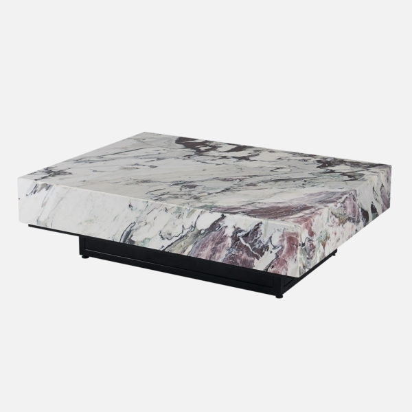 Black And Grey Marble Coffee Table | Sevenstonesinc Throughout Alcide Rectangular Marble Coffee Tables (View 17 of 40)