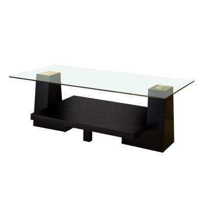 Black – Coffee Table – Accent Tables – Living Room Furniture – The For Weaver Dark Rectangle Cocktail Tables (Image 8 of 40)