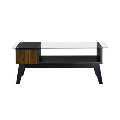 Black – Coffee Table – Accent Tables – Living Room Furniture – The Intended For Weaver Dark Rectangle Cocktail Tables (Image 9 of 40)