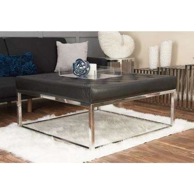 Black – Coffee Table – Litton Lane – Coffee Tables – Accent Tables Throughout Button Tufted Coffee Tables (View 36 of 40)