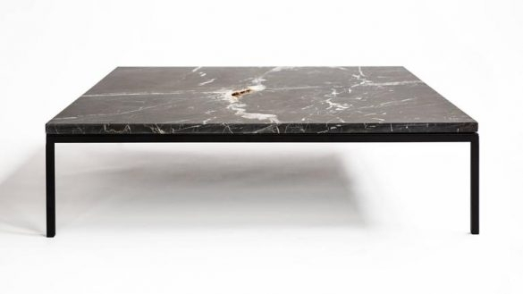 Black Marble Coffee Table Home And Furniture | Thejobheadquarters For Alcide Rectangular Marble Coffee Tables (View 5 of 40)