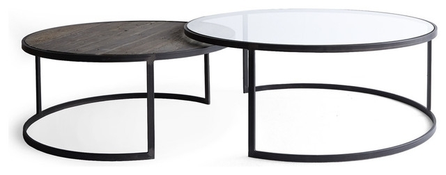 Black Round Coffee Table Sets 3 Piece Coffee Table Sets Under: Black Regarding Torrin Round Cocktail Tables (View 15 of 40)