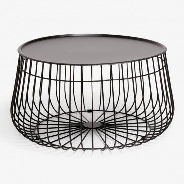 Black Wire Storage Coffee Table | + Studio 125 + | Pinterest | Wire Intended For Black Wire Coffee Tables (Image 13 of 40)
