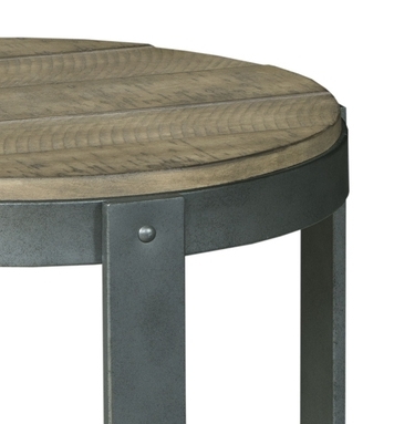 Blanton Round Accent Table In Silver/oakhammary – Home Gallery With Blanton Round Cocktail Tables (View 9 of 40)