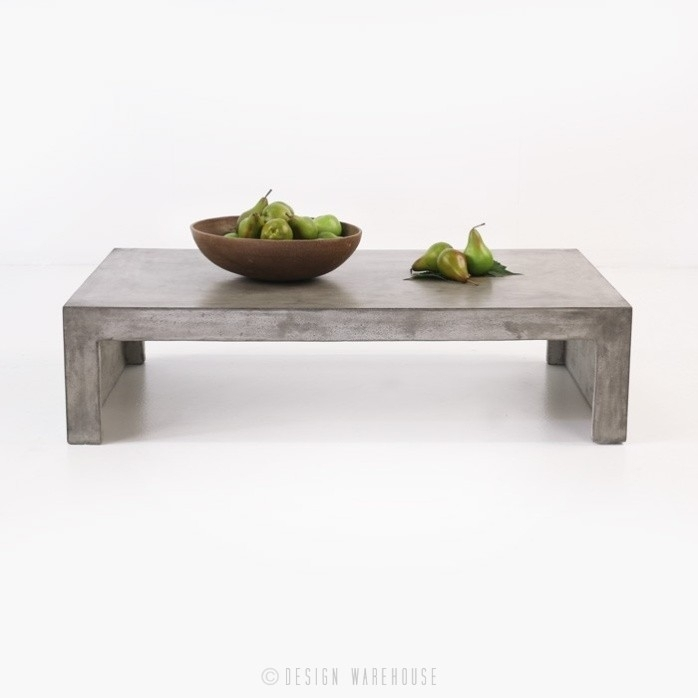Blok Concrete Waterfall Coffee Table | Outdoor Accent | Design Warehouse With Regard To Square Waterfall Coffee Tables (Image 5 of 40)