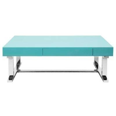Blue – Coffee Tables – Accent Tables – The Home Depot In Natural 2 Drawer Shutter Coffee Tables (Image 7 of 40)