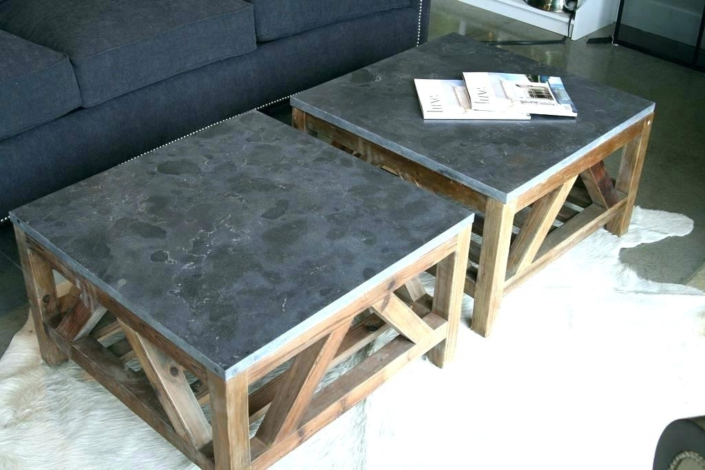 Blue Stone Coffee Table Coffee Table Coffee Table Coffee Tables Set Pertaining To Bluestone Rustic Black Coffee Tables (Image 5 of 40)