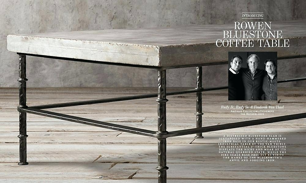 Blue Stone Coffee Table Intended For Bluestone Rustic Black Coffee Tables (Photo 5 of 40)
