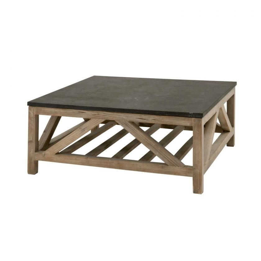 Blue Stone Square Coffee | Mimodelaviation Throughout Bluestone Rustic Black Coffee Tables (Image 9 of 40)