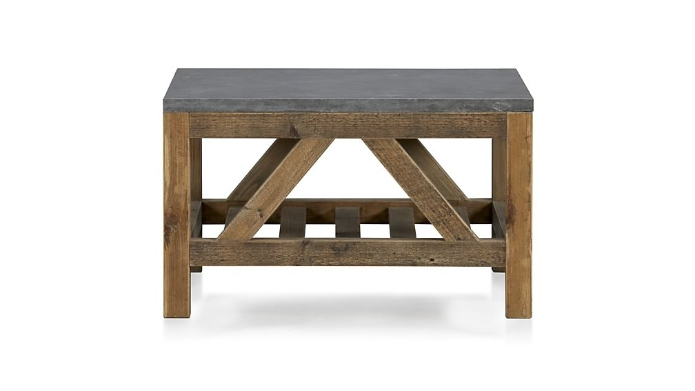 Bluestone Square Coffee Table + Reviews | Crate And Barrel With Recycled Pine Stone Side Tables (View 37 of 40)