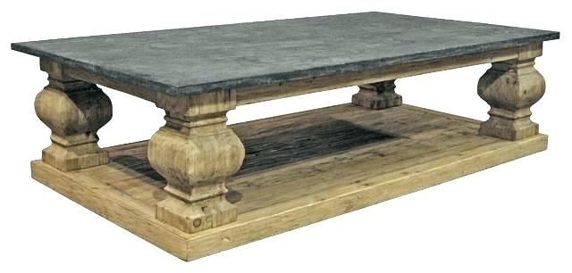 Bluestone Top Coffee Table Table Home Design 3D Tutorial Intended For Bluestone Rustic Black Coffee Tables (Image 21 of 40)