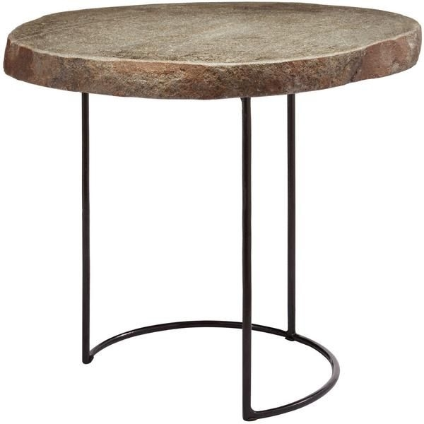Boise Stone Slab/wire Frame Table Short | Modern And House Regarding Exton Cocktail Tables (View 36 of 40)
