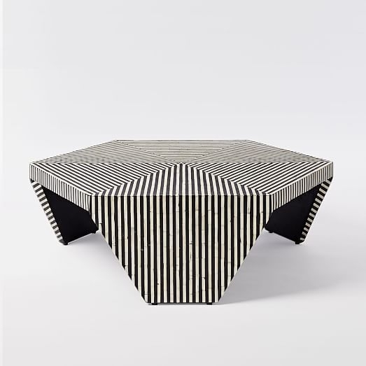 Bone Inlaid Faceted Coffee Table | West Elm | Home Upgrades In 2018 With Regard To Geo Faceted Coffee Tables (Image 3 of 31)