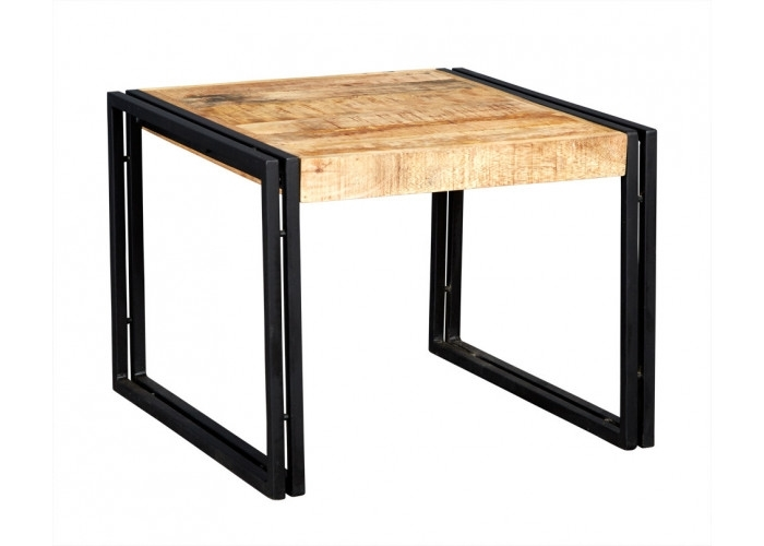 Bonsoni Baudouin Industrial Small Coffee Table Made From Reclaimed Regarding Kai Small Coffee Tables (Image 8 of 40)